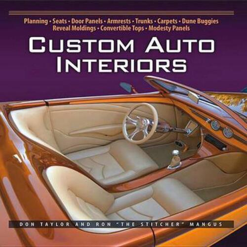 Custom Auto Interiors by Don Taylor (English) Paperback Book Free Shipping!