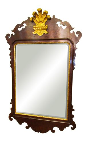 CHIPPENDALE STYLE MAHOGANY COLONIAL WILLIAMSBURG MIRROR - SPECTACULAR CONDITION