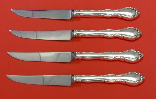 Fontana by Towle Sterling Silver Steak Knife Set 4pc HHWS Custom Made 8 1/2""