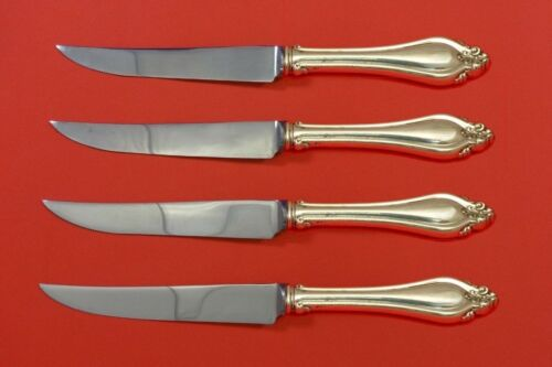 La Perle by Reed & Barton Sterling Silver Steak Knife Set 4pc HHWS  Custom Made