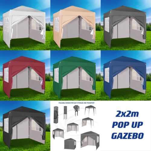 Mcc® Premier 2X2m Pop-up Gazebo waterproof coating layer Marquee Canopy <br/> Setup In Minutes✔ With 4 Sides✔ Extra Waterproof Layer✔