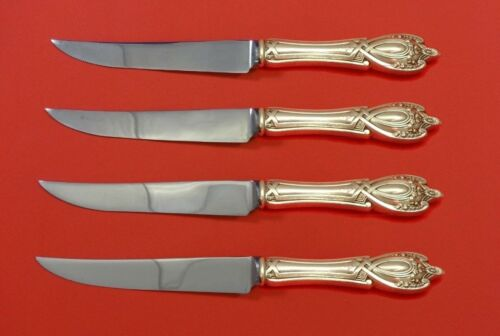 Monticello by Lunt Sterling Silver Steak Knife Set 4pc HHWS Custom Made 8 1/2""