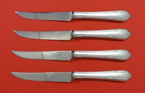 Wild Flower by Royal Crest Sterling Silver Steak Knife Set 4pc HHWS  Custom