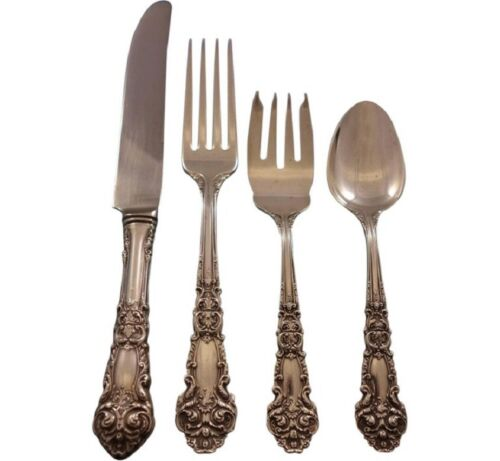 French Renaissance by Reed & Barton Sterling Silver Flatware Set 8 Service 32 Pc