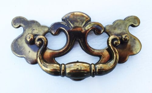 "VintageBrass KBC Antique Hardware Chippendale drawer pull...3 1/2"" centers"