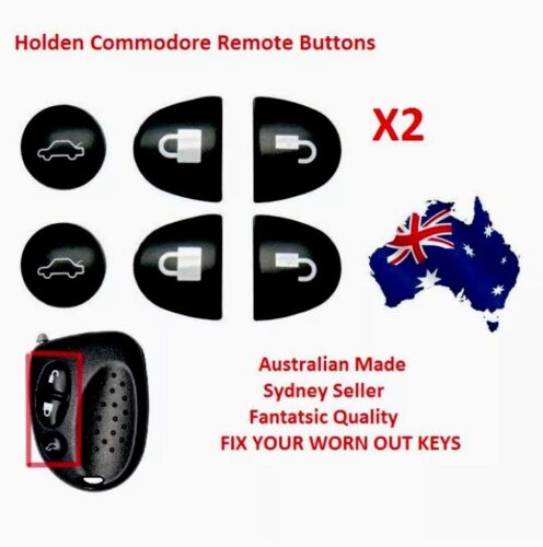 2X Sets Key Remote Buttons Holden Commodore Key Buttons VS VT VX VY VZ WH WK WL <br/> **AU Stock*** 10,000+SOLD***SAME DAY POST** SALE SALE**