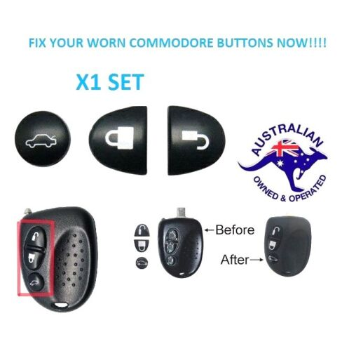 1X  Holden Commodore Key Buttons SET VS VT VX VY VZ WH WK WL <br/> Australian Stock - VERY FAST POST-Thousands Sold-X1 SET