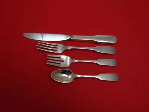 Old English Tipt by Gorham Sterling Silver Place Size Place Setting(s) 4pc