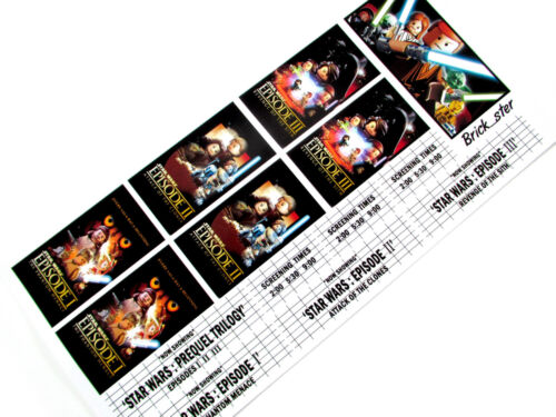 CUSTOM STICKERS for LEGO 10232 Palace cinema 10184 customs builds -Star Wars 123