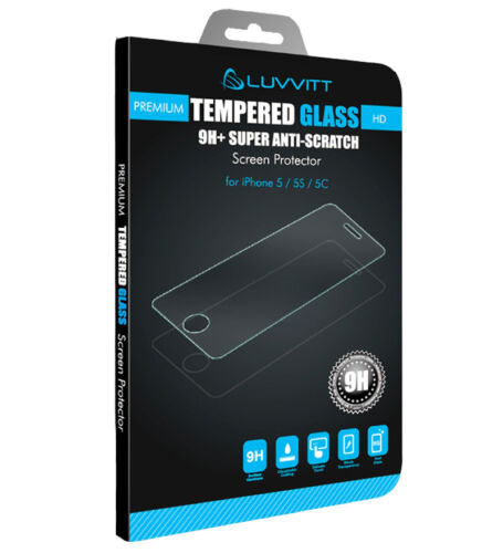 LUVVITT TEMPERED GLASS Screen Protector for iPhone SE 2016 - Crystal Clear