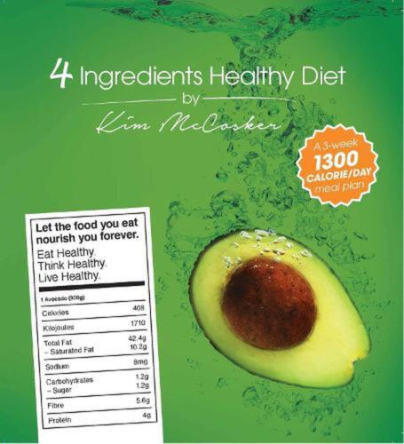 4 Ingredients Healthy Diet by Kim McCosker Paperback Book Free Shipping!