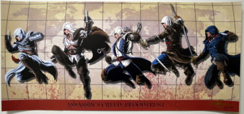 ASSASSINS CREED Panoramic Print 102/500 HAND SIGNED by Artist Damon Bowie w COA