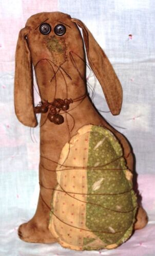 PRIMITIVE FOLK ART RABBIT AND EGG ~ MAILED PATTERN ~ QUICK AND EASY!!