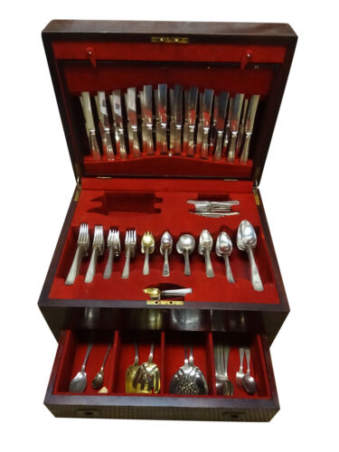 Etruscan by Gorham Sterling Silver Flatware Set 12 Service 198 Pcs Fitted Chest