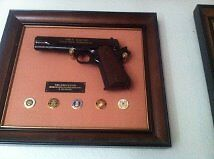 John Wayne - Franklin Mint Military .45  ( no-firing ) Armed Forces CommReproductions - 156470