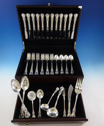 Old Master by Towle Sterling Silver Flatware Set For 12 Service 56 Pieces