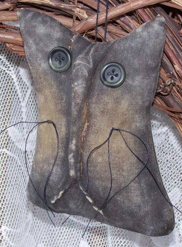 PRIMITIVE HALLOWEEN EVERYDAY CAT ORNIE MAILED PATTERN!! EASY!! GREAT FOR SHOWS!!