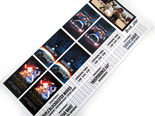 CUSTOM STICKERS for LEGO 10232 Palace cinema 10184 customs builds -BLOCKBUSTERS4