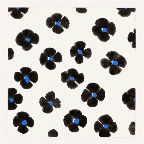 DONALD SULTAN 'Black and Blue (Flowers), Oct 10, 2007' SIGNED Etching Print