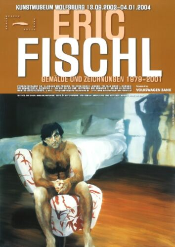 ERIC FISCHL 'The Bed, The Chair, Dancing, Watching' German Exhibition Poster S/O