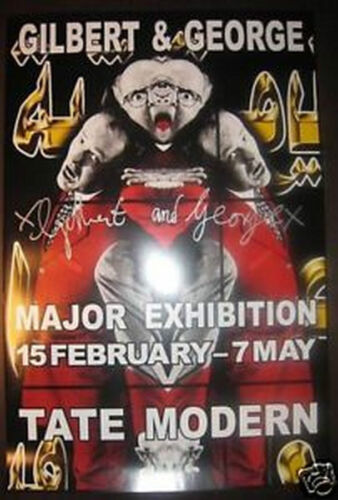 GILBERT & GEORGE 'Ishmael' (detail), 2007 SIGNED Tate UK Exhibition Poster *NEW*