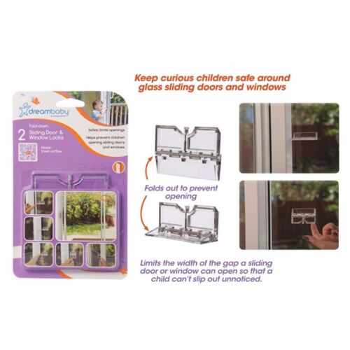 2 x Baby Child Toddler Home Safety Lock Limit Protect Glass Sliding Door Window