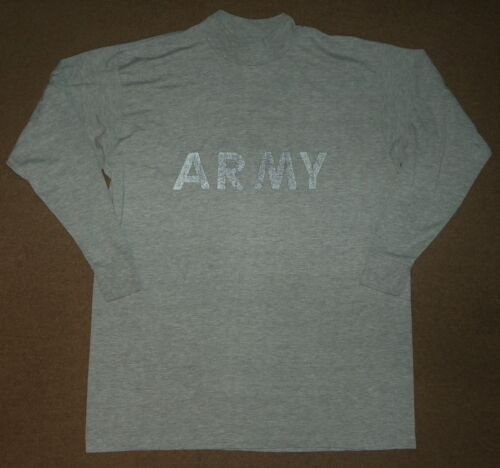 US ARMY GI EAGLE ALL RANKS SPECIALTIES ATHLETIC PT GROUND AIR SS GRAY T-SHIRT LG