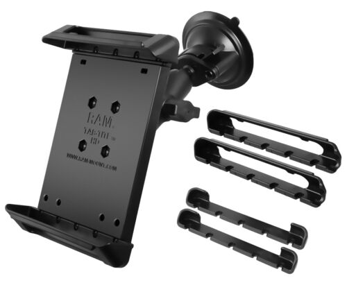 """RAM Mount Small Tablet Tab Tite Cradle 7-8"""" Car Windscreen Suction Cup Mount"""