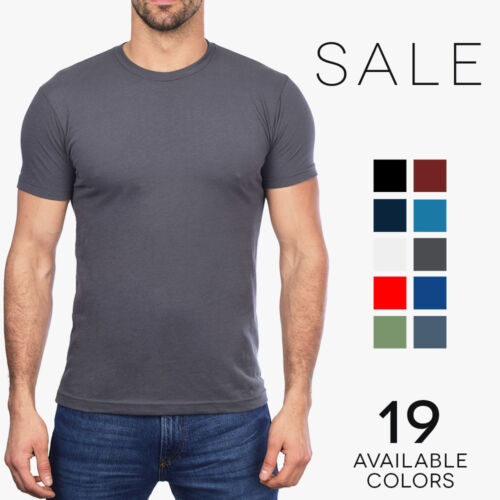 Next Level Premium Sueded Crew T-Shirt Mens Soft Fitted Basic Tee 6410