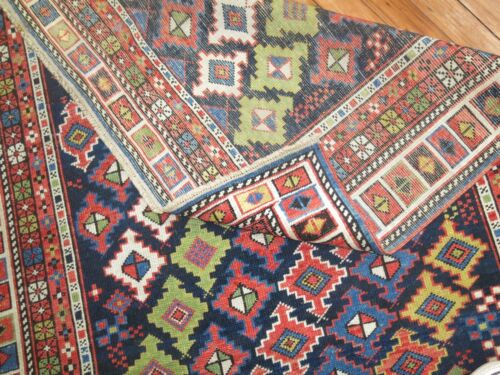 Antique Caucasian Shirvan Kuba Talish Rug Size 3'5''x5'4''