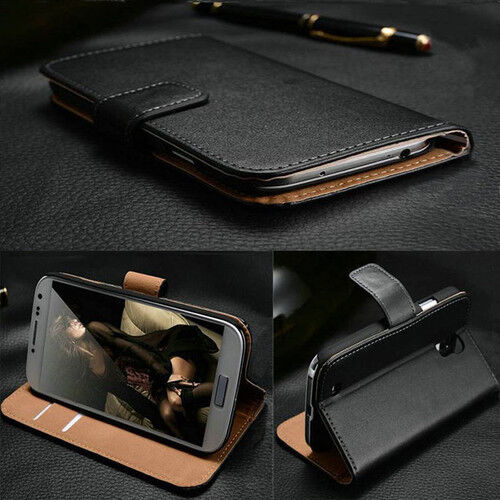 Genuine 100% Real Leather Wallet stand case for SONY XPERIA Z3 & z3 COMPACT MINI