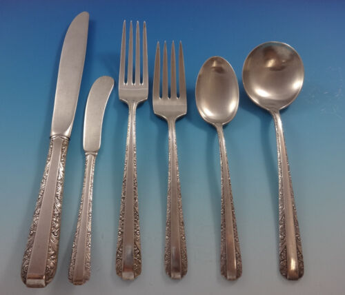 Candlelight by Towle Sterling Silver Flatware Set For 12 Service 73 Pieces