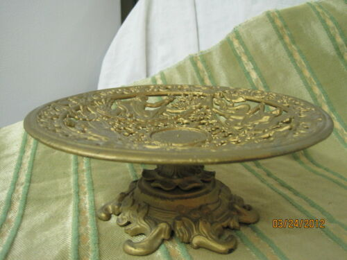 Antique decorative Metalware Iron Compote Emig Sea Gods