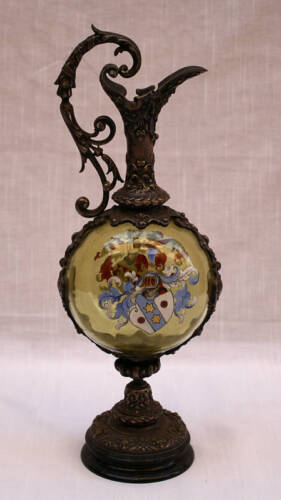 MAGNIFICENT 18C PORTUGUESE SILVER , HAND PAINTED  PITCHER