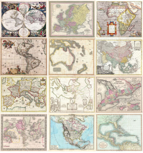 2000 Rare Antique Maps in High Resolution (300dpi) on 3 DVDs