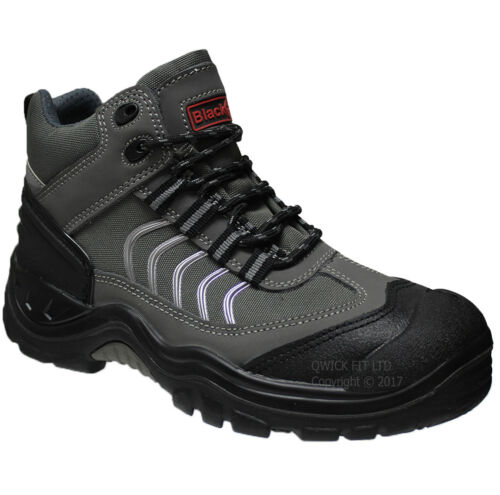 MENS BLACKROCK SAFETY STEEL TOE CAP BOOTS LEATHER ANKLE SHOES WORK TRAINERS SIZE <br/> COMFORTABLE WIDE FITTING MIDPLATE FOR EXTRA PROTECTION
