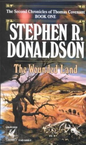 Wounded Land by Stephen R. Donaldson (English) Mass Market Paperback Book Free S