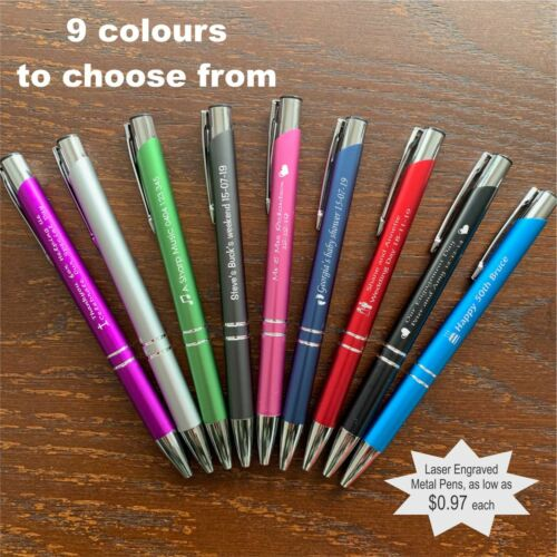 Custom Engraved Metal Pens Promotional Business Corporate Personalised Gifts