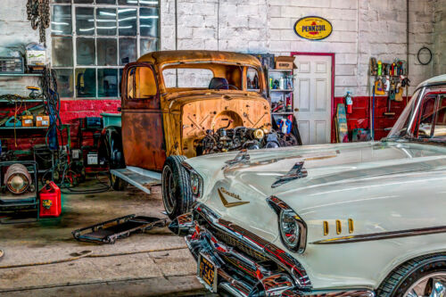 Man Cave Cars 12 x 18  Picture Fine Art HDR Print