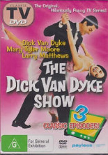 The Dick Van Dyke Show DVD 3 Episodes R4 Australia Brand New Sealed Free Post