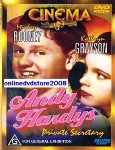 Andy Hardy's PRIVATE SECRETARY (Mickey ROONEY) Comedy Film DVD NEW SEALED Hardys