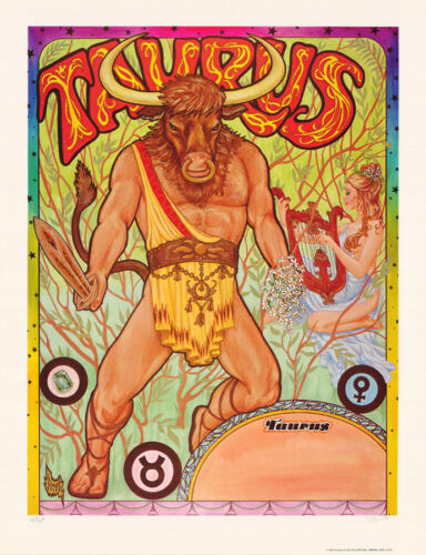 POSTER: ZODIAC - TAURUS  by FERET - SIGNED & NUMBERED  -     #12-489    RBW2 S