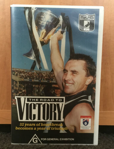 COLLINGWOOD - THE ROAD TO VICTORY - PREMIERS 1990 - VHS