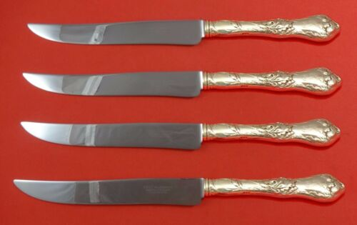 Les Cinq Fleurs by Reed and Barton Sterling Steak Knife Set Texas Sized Custom