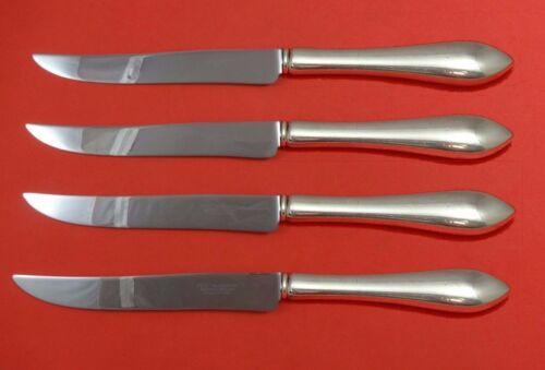 Pointed Antique Reed Barton Dominick Haff Sterling Steak Set Texas Sized Custom
