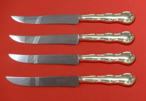 Rondo by Gorham Sterling Silver Steak Knife Set 4pc Large Texas Sized Custom