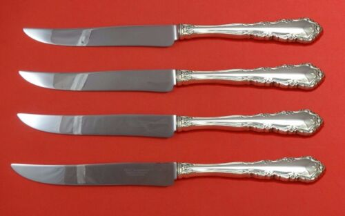 Shenandoah by Wallace Sterling Silver Steak Knife Set 4pc Texas Sized Custom