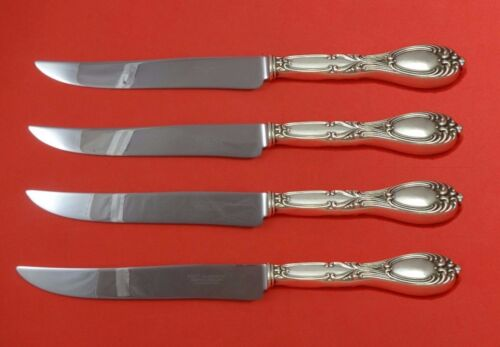Victoria by Frank Whiting Sterling Silver Steak Knife Set 4pc Texas Sized Custom