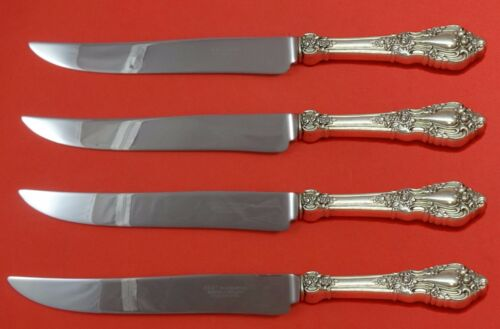 Eloquence by Lunt Sterling Silver Steak Knife Set 4pc Large Texas Sized Custom