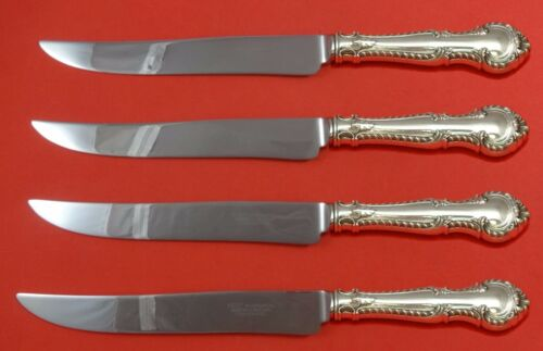 English Gadroon by Gorham Sterling Silver Steak Knife Set 4pc Texas Sized Custom